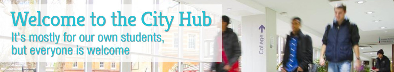City hub welcome banner